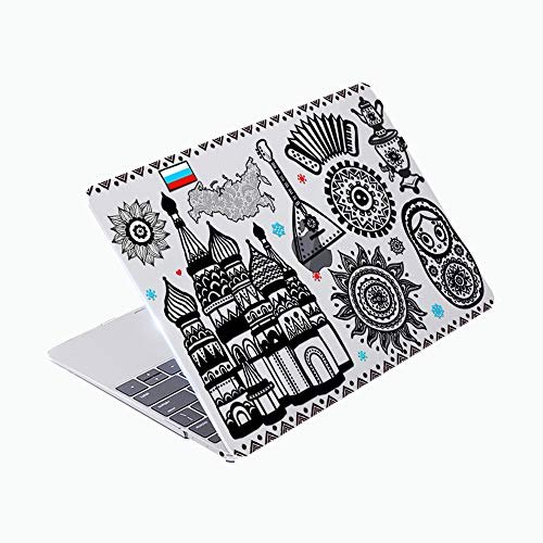 SDH Case Compatible Older MacBook Pro Retina 13 inch (Release 2015-end 2012),Plastic Pattern Hard Shell & Gradient Keyboard Skin Cover for Mac Book Pro 13 (Model:A1502/A1425), Fuwa 3