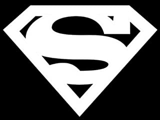 UR Impressions Superman Logo Decal Vinyl Sticker Graphics Car Truck SUV Van Wall Window Laptop|White|5.5 X 4.1 Inch|URI087
