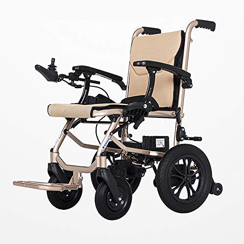 MoMi Electric Wheelchair Lightweight Dual-Function Foldable Electric Wheelchair (Lithium-Ion Battery), Front And Rear Dual Control System