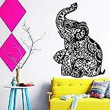 58 * 84 cm Nouveau design pas cher décoration de la maison vinyle Art tatouage éléphant sticker mural amovible maison décor...