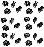 Only Hangers Gridwall Joining Clip Connectors for Grid Panels - Pack of 24 - Black Color...