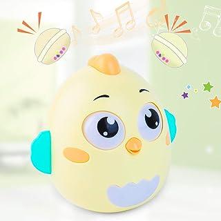 Briskarii Roly Poly Baby Toys 6 to 12 Months Developmental, Tummy Time Toys, Penguin Tumbler Wobbler for Infant Boy Girl G...