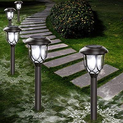 Solar Lights Outdoor Decorative - Gichies Solar Pathway Lights 10 Pack Waterproof Solar Lights Outdoor for Garden Pathway Walkway Yard Landscape Patio (Cool White)
