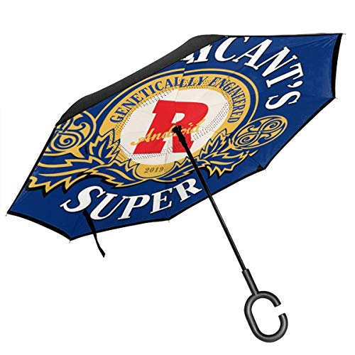 Replikanten Super Tennents Bier Logo Blade Runner Double Layer Inverted Umbrella für Auto Reverse Folding Upside Down C-förmige Hände - Lightweight Windproof