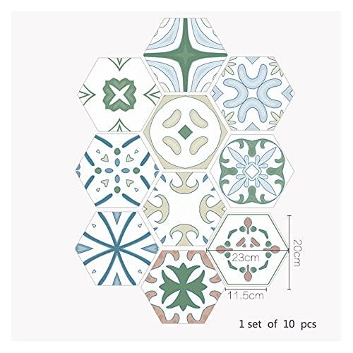 SHUILIANDU Baño Impermeable Pegatinas de Piso, Peel Stick Agustivo Azulejos Agustivo, Cocina Sala de Estar Decoración No resbalón Piso Calcomanía (Color : DB052, Size : 10 Pieces)