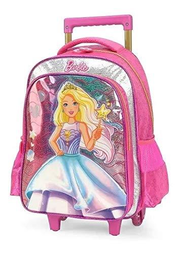 Mochila Infantil Escolar Barbie Princesa Meninas Rodinhas G