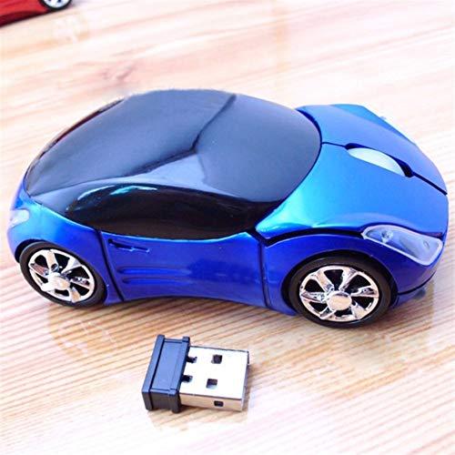 A-hyt Diseño portátil Nuevo USB 2.4GH Sintonizador de automóviles USB2.0 Ratones de ratón Ocular para computadora portátil PC Ordenador Ambiente Confortable (Color : Blue)