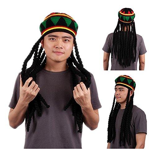REFURBISHHOUSE Rasta Sombrero Boina jamaicana Gorra de...