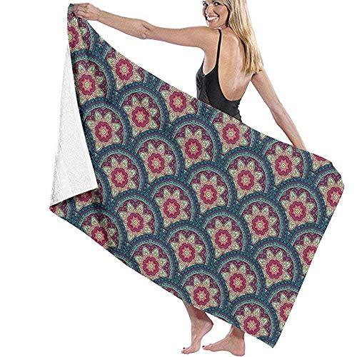 dingjiakemao Turkse handdoek decoratieve schalen patroon bad handdoeken Ultra Absorbent 80X130Cm bad handdoeken reishanddoek