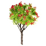 SODIAL(R) arbol de hoja de cartamo en miniatura para Decoracion de Macetas de Casa de muneca Musgo de Bonsai Mini ornamento del jardin del arte de DIY del paisaje