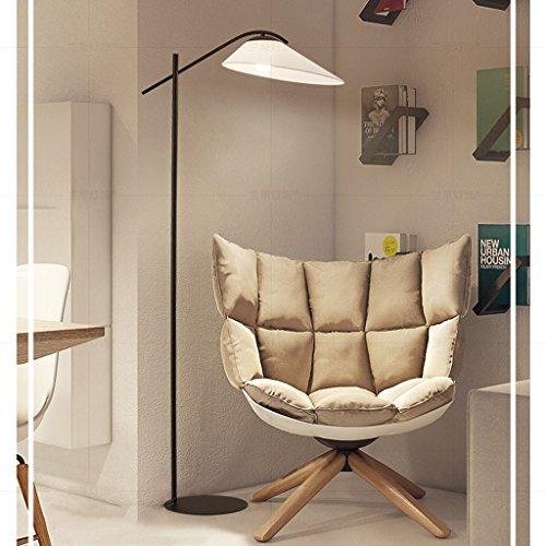 XIN Home staande lamp, staande leeslamp, creatieve Amerikaanse eenvoudige doek vloerlamp woonkamer lamp studie lamp Noord-Europa bank lampen slaapkamer licht warme oogbescherming verticale tafellamp bronskleurig