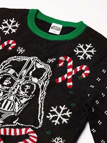 Star Wars Men's Stormtrooper Sweater, Black, Small