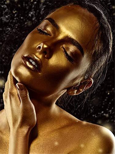 5d pintura de diamantes mosaico de diamantes de imitación mujer africana kit de bordado de diamantes cuadrado/redondo pintura de diamantes A5 60x80cm