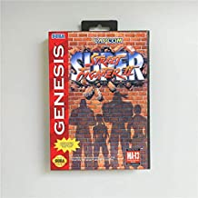 Game Card Super Street Game Fighter II - USA Cover With Retail Box 16 Bit MD Game Card for Sega Megadrive Genesis Video Game Console