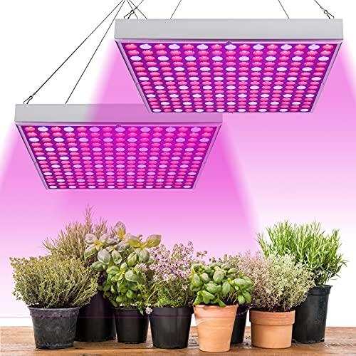 wolketon 2 Stück LED Pflanzenlampe 15W Pflanzenleuchte Pflanzenlicht 225 LEDs Grow Lampe mit Rot Blau Licht für Gewächshaus Wachstumslampe Pflanzen
