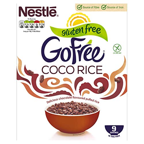 Nestle GoFree Coco Rice Gluten Free Cereal, 295g, Pack of 9