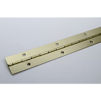 Gedotec Bande de piano /à vis pour charni/ère de porte enroul/ée 32 x 900 mm en acier nickel/é 1 pi/èce