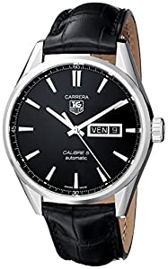 TAG Heuer Men's THWAR201AFC6266 Carrera Analog Display Swiss Automatic Black Watch Reviews and For Sale and review image
