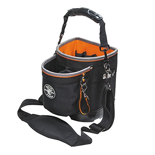 Klein Tools 55419SP-14 Tool Bag with Shoulder Strap Has 14 Pockets for Tool Storage, Can Fit Long Screwdrivers