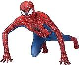QWEASZER Peter Parker Spiderman Costume di Halloween Carnevale Cosplay Classic Spiderman Vestito Lycra 3D Stampa Partito del Vestito Operato di Film Costume Puntelli,Red-170~179cm