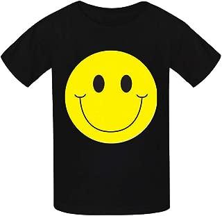 Meklginagle Smiling Face Kids Tee Short Sleeve Boy Girl 100% Cotton T-Shirt