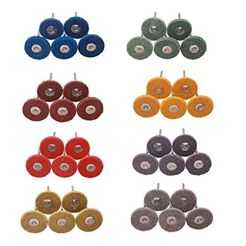 Radial Buffing Wheels, Mixiflor 40Pcs (1