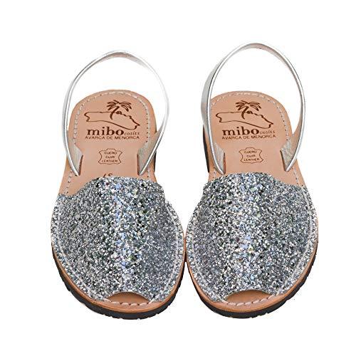 Authentic Avarca Menorquina Sandals Basic Escarcha Plata - Talla 39 EU