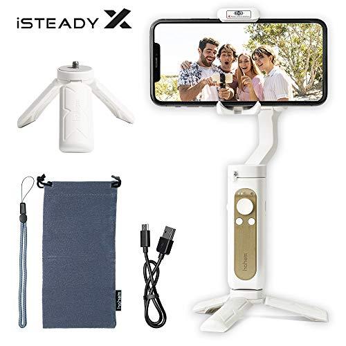 Hohem iSteady X Gimbal Stabilisator,3-Achsen-Handheld Gimbal mit Video Editing Selfie-Modus,Leichtes Smartphone Gimbal für 11 Pro Max/X/SE,ios/Android Phone,Auto Kalibrierung für Live-Streaming