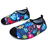 L-RUN Kids Swimming Shoes Boys Girls Anti-Skid Walking Shoes Sea World 3-4=EU 18-19