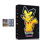 Álbum de Cartas coleccionables Compatible con Carpeta de Cartas Pokemon, Carpeta de Soporte para Juegos de Cartas coleccionables TCG, Puede Contener 240 Cartas(New Pikachu)