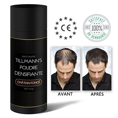 Poudre Cheveux Homme et Femme/Poudre Densifiante Barbe/Cache la Calvitie et les Racine-A la Keratine...
