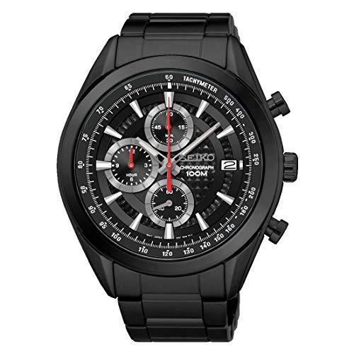 Seiko Herren Chronograph Quartz Uhr mit Edelstahl Armband SSB179P1