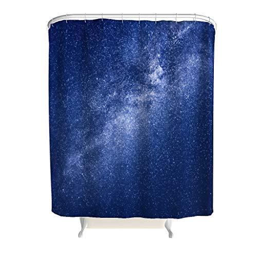 Lind88 Duschvorhang Retro Shine Muster Theme Rostfrei - Starry Galaxy Badvorhang Jahrgang für Badewannenduschen White 180x200cm