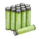 Amazon Basics AAA High-Capacity Rechargeable Batteries 850mAh (12-Pack) Pre-charged