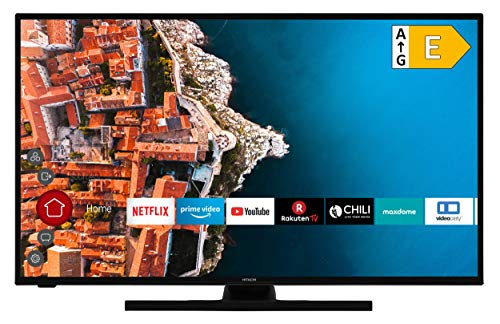 HITACHI F43E4200 43 Zoll Fernseher (Full HD, Smart TV, Prime Video/Netflix/YouTube, Works with Alexa, Bluetooth, Triple-Tuner, PVR)