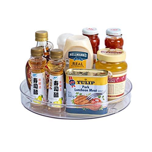 GWHW Contenedor giratorio transparente con varios estantes para cocina y alimentos, organizador ideal para armario para condimentos, especias y pequeños utensilios