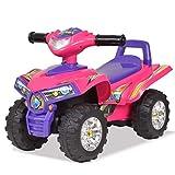 vidaXL Quad ATV Correpasillos Infantil Sonidos Luces Rosa Morado Juguete Niños