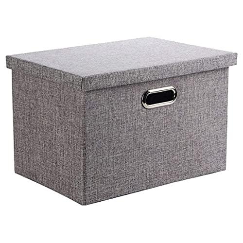 SHUILV Caja de Almacenamiento Tela de Ropa Plegable Ropa de Almacenamiento Bins Bins Toy Box Organizer con Tapas para niños (Gris, 15.3x10.6x9.8in)