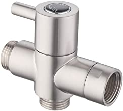 KES BRASS Shower Arm Diverter Valve Bathroom Universal Shower System Component Replacement Part for Hand Held Showerhead and Fixed Spray Head, Brushed Nickel, PV4-2