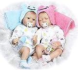 ZXYMUU Reborn Baby S Simulation Baby Twins Reborn Baby S Lindo Realista Hecho A Mano Hecho A Mano Re...