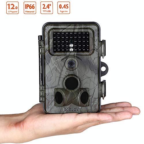 SPRIS Wildlife Trail-Kamera-1080P, IP 66 wasserdicht 0.3s Trigger-Tier-Nachtsicht-Digital-Trail Überwachung for Wildtiere Jagd-und Home Security