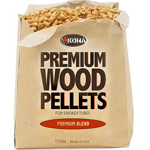 Lowest Prices! Kona Smoker Grilling Pellets (1) 10 Pound Bag, Premium Blend