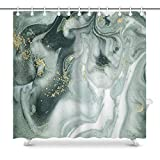 UIOIU Shower Curtain,Swirls of Marble Ripples of Agate Pattern,Polyester Fabric Bathroom Decor Sets with Hooks 72x72 Inch