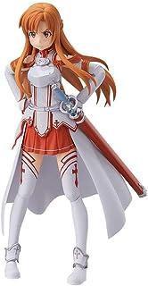 GUANGHHAO Sword Art Online Yuuki Asuna Figura de acción Figma 13.5CM-VRMMORPG YuukiAsuna-Figurine Decoración Adornos Coleccionables Juguete Animaciones Modelo de Personaje