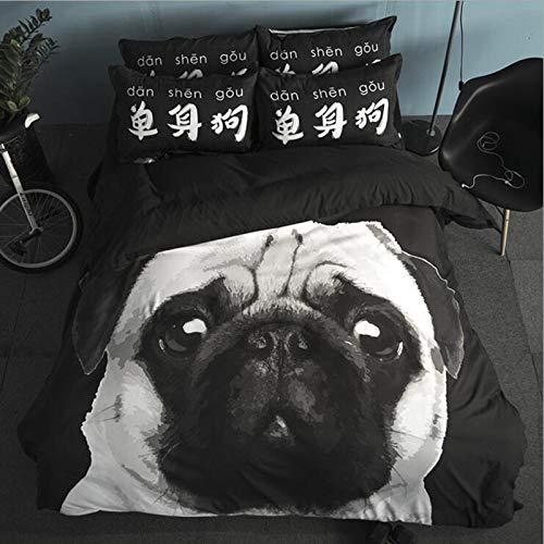Hllhpc Platinum home textiel beddengoed set van vier 1,5 m bed student enkele schuurplaten drie sets van vet kat dekbedovertrek