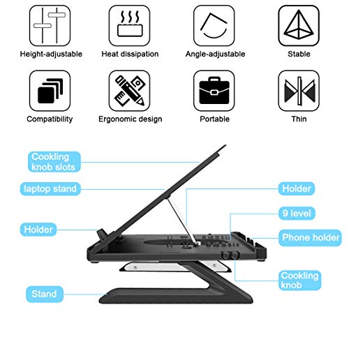 Homder-Laptop-StandMulti-Angle-Adjustable-Laptop-Stand-with-Heat-Vent-Ergonomic-Portable-Foldable-Laptop-Riser-for-Desk-Compatible-with-MacBook-Air-ProSurface-Laptop-up-to-15-inches