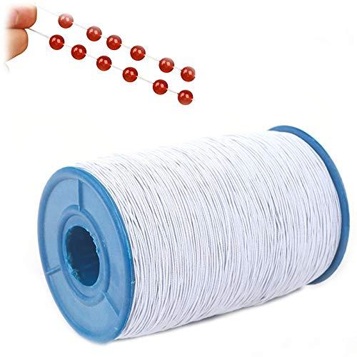 Elastischen elastischen Faden Nähen Rolle Elastische Kordel Schnur Gummikordel Bastelnschnur Elastische Schnur DIY Schmuck Kleidung Handwerk zum Basteln Geschenkverpackung für Armbänder Haarband 350m