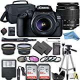Canon EOS Rebel T100 / 4000D DSLR Camera Bundle + 2pc SanDisk Memory