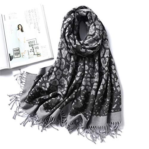 BBDWJ Schal Womens Winter Schal Warme Dicke Kaschmir-Tücher Für Lady Animal Print Hochwertige Weiche Lange Größe Decke Schals