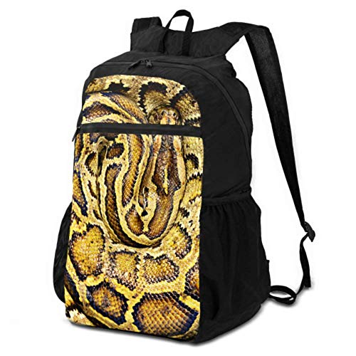 JOCHUAN Packable Backpack for Hiking Green Boa Constrictor Womens Foldable Backpack Daypack for Women Travel Lightweight Waterproof for Men & Womentravel Camping Outdoor